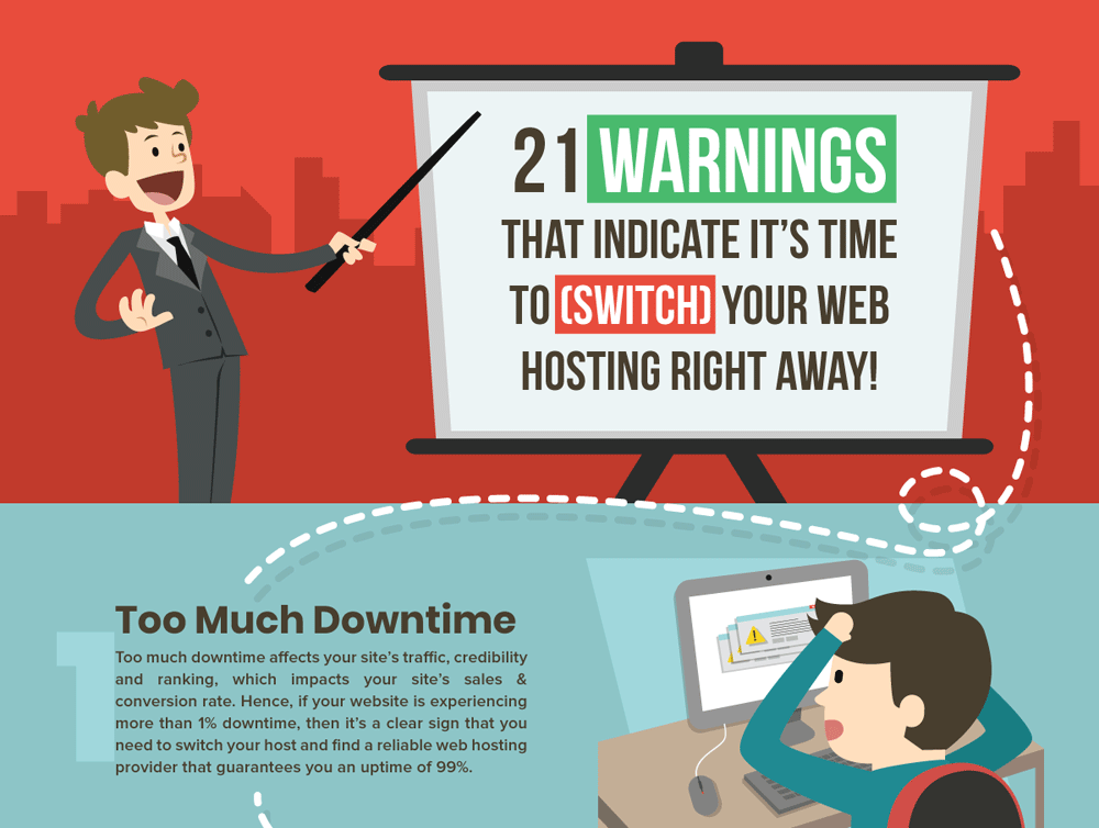 21 Warning Signs To Easily Identify A Sub-standard Web Host